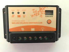 NSEE 12/24V 10A Auto Switch Work Mode LCD Battery Charger Controller Solar Panel