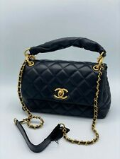 CHANEL black leather bag. New collection.