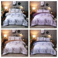 Marbled Supersoft Down Alternative Comforter Queen/King Size Bedding Set US