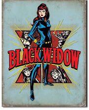 Black Widow Metal Tin Sign Avengers Superhero Comic Home Wall Garage Decor New