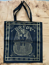Egypt Gold And Black Silk Screened Tote