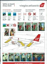 Safety Card - Virgin Atlantic - A320 - Flight Attendant Demo Photos (S3903)