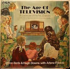 The Age Of Television Feat Milton Berle and Hugh Down LP Record 1971 W Book EX