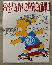 The Simpsons Bart Simpson Skateboarding Iron-On Heat Transfer 1990 Underachiever