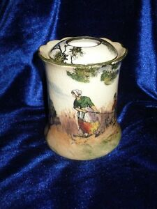 **RARE** Royal Doulton 'The Gleaners' Hair Tidy (D3191)