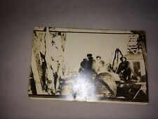 VINTAGE REAL PICTURE POSTCARD POSTED OF CATTLE HIDING POSTMARK DATED 1914 MICH