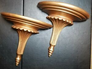 Vintage Pair Of Wall Sconce Shelves