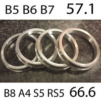 Aluminium Spigot Rings 66.6 - 57.1 Wheel Spacer Set of 4 Alloy Wheel Hub Centric