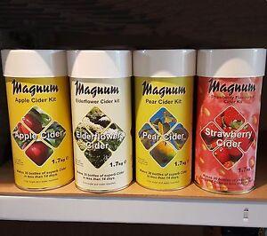 Magnum Cider Kit quality 30 bottle homebrew - Apple Strawberry Elderflower Pear
