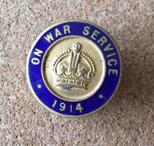On War Service 1914 Lapel Buttonhole Badge