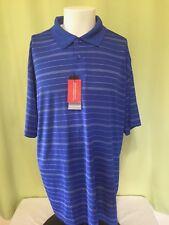 NWT Marc Edwards Men's Blue Stripe Golf Polo Shirt Size XL RN 40330