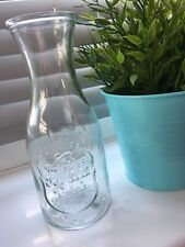 NEW Botanical Discovery Clear Glass Vintage Style Drinking Bottle Vase HOME