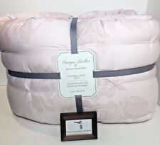 POTTERY BARN TWIN DESIGNER MONIQUE LHUILLER ETHEREAL LACE QUILT PINK NO SHAMS