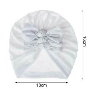 Baby Bow Knot Headband Cotton Beanie Hat Headwrap For Newborn Toddler Infant
