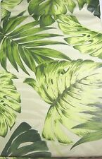 Tropical Green Leaves Flannel Back Vinyl Tablecloths Assorted Sizes Obl. & Rnd