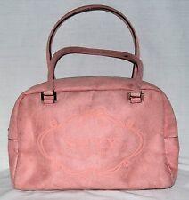 Victorias Secret SEXY Rosy Pink Faux Suede Satchel Purse with Logo