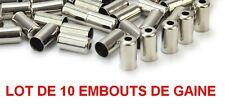 LOT 10 EMBOUTS DE GAINE VTT BMX ROUTE FOURREAU  VELO DIAMETRE 5 X 11 5X11 CHROME