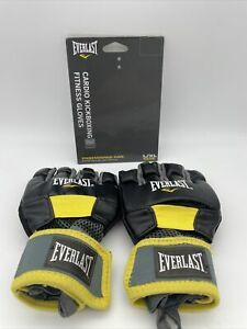 Everlast Cardio Kickboxing Fitness Gloves - Black L/XL Gently Used Boxing/MMA