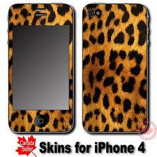 Leopard Fur Pattern Art SKIN STICKER COVER for iPhone 4
