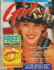 Girl  Magazine 4 October 1989    Kylie Minogue   Big Fun   New Kids on The Block