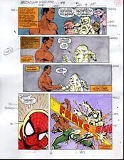 Original Spectacular Spider-man Marvel color guide comic art:100s MOREINOURSTORE