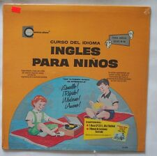 Curso Del Idioma Ingles Para Ninos S/S Factory SEALED Vinyl LP W/ Booklet