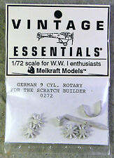 Vintage Essentials 1/72 WW I German 9 Cyl. Rotary Engine  *Very Rare*OOP*