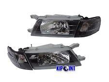 For Nissan Sentra B14 200SX SE-R Headlights w/ Corners 1995-1999 Black LHD JDM