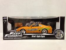 "Fast Furious Brain's Toyota Supra Special Edition 10"" Diecast 1:18 Jada Toys OR"