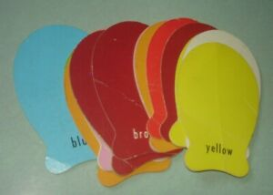 Vintage - Fish Shaped - Go Fish Card Game - incomplete - 15 cards