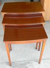 VINTAGE ANTIQUE MERSMAN NESTING STACKING TABLE SET OF 3 VERY NICE