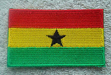 GHANA FLAG PATCH Embroidered Badge Iron or Sew on 3.8cm x 6cm West Africa NEW