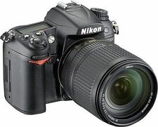 New Nikon D7000 Digital SLR Camera w/ 18-140mm VR Lens Black 16.2MP Low Shutter