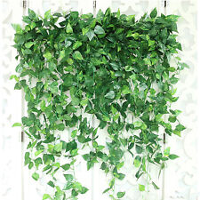 12x Artificial Greenery Ivy Vine Leaves Garland Wedding Party Garden Wall Decor