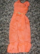 1974 VINTAGE ORIGINAL BARBIE BEST BUY BRIGHT ORANGE TRICOT DRESS #7814