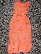 1974 VINTAGE ORIGINAL BARBIE BEST BUY BRIGHT ORANGE TRICOT DRESS #7814