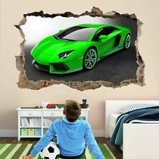 Supercar Green Sports Car Wall Sticker Mural Decal self-adhesive Print Art AP11