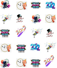 2022 New Year Waterslide /Water Transfer Nail Decals/Nail art