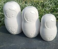 Fred Matryoshkas Russian Doll Measuring Cups Collector's Item