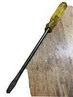 "VTG Large Irwin 3/8 Flat Screwdriver No 400-10""/USA,14.5"" Total Length"