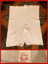 Vintage Long Granny Panties White Cotton Hippy Retro Robkabilly Soft 1960s Sz Xl