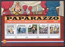 PERSOONLIJKE POSTZEGELS PAPARAZZO - WILLEM-ALEXANDER EN MAXIMA 12½ JAAR GETROUWD