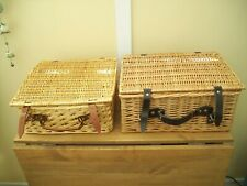 2 Wicker Hamper Picnic / Storage Basket