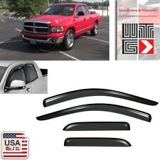 Smoke 02-08 Dodge Ram 1500 Crew Cab Window Deflector Visor Vent Shade Guard