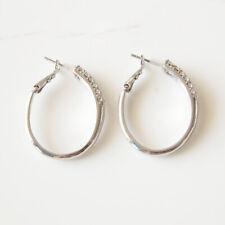New Lia Sophia 32mm Oval Hoop Earrings Gift Fashion Women Party Holiday Jewelry