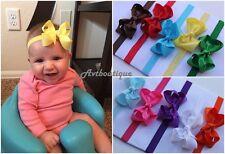 10pcs small bow headband newborn babygirl head band set kids hairbands US seller