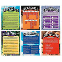 Bible Learning Posters - Educational - 6 Pieces