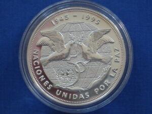 Dominican Republic 1 peso Silver Proof 1995 United Nations 50th Anniversary