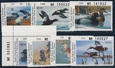 #ND5 // ND11 (7) MINT NH NO. DAKOTA STATE DUCK STAMPS BROOKMAN CV $109 BT3957