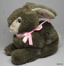 Steiff Cuddly Rabbit Woven Fur Plush Bunny 25 cm ID Button 1981 -84 Vintage